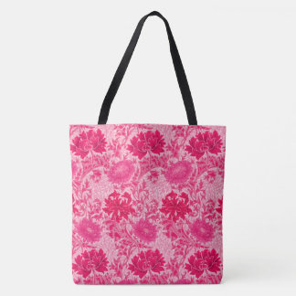 William Morris Chrysanthemums, Fuchsia Pink Tote Bag