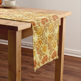 William Morris Chrysanthemums, Mustard Gold Short Table Runner