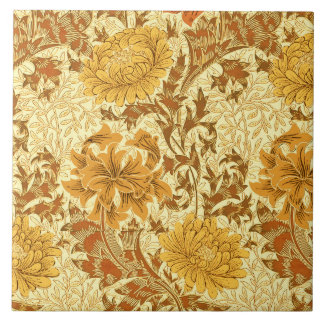 William Morris Chrysanthemums, Mustard Gold Tile