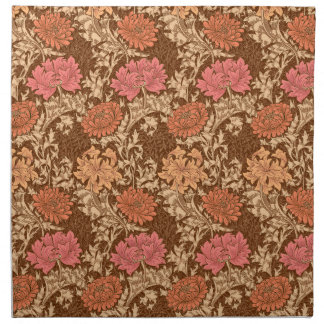 William Morris Chrysanthemums, Orange and Rust Napkin