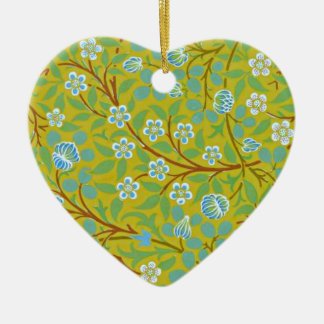 William Morris - Clover (yellow and blue) Ceramic Ornament