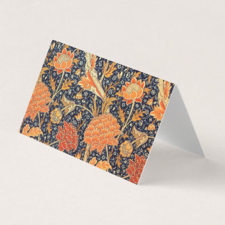William Morris Cray Floral Art Nouveau Pattern Business Card