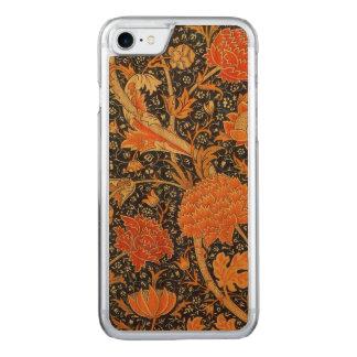William Morris Cray Floral Art Nouveau Pattern Carved iPhone 8/7 Case