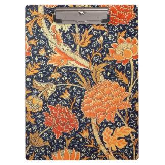 William Morris Cray Floral Art Nouveau Pattern Clipboard
