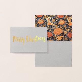 William Morris Cray Floral Art Nouveau Pattern Foil Card