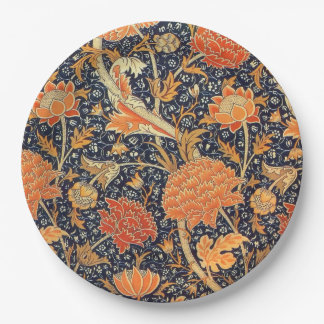 William Morris Cray Floral Art Nouveau Pattern Paper Plate