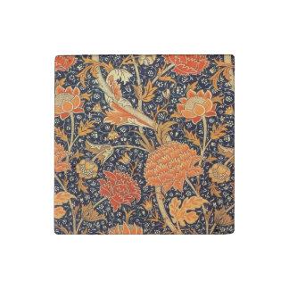 William Morris Cray Floral Art Nouveau Pattern Stone Magnet