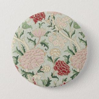 William Morris Cray Floral Pre-Raphaelite Vintage 7.5 Cm Round Badge