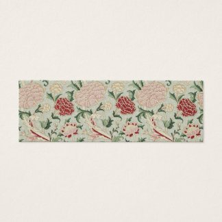 William Morris Cray Floral Pre-Raphaelite Vintage Mini Business Card