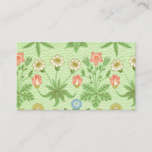 William Morris Daisy Pattern Business Card