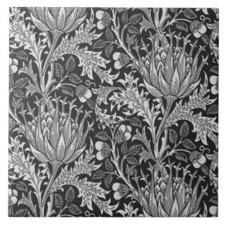 William Morris Damask, Dark Gray Tile