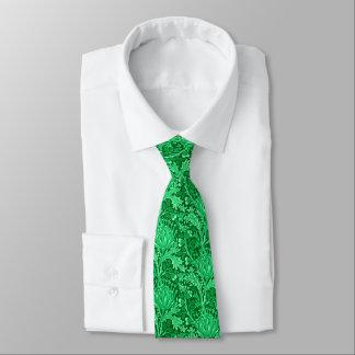 William Morris Damask, Emerald Green Tie