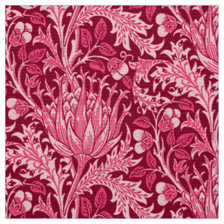 William Morris Damask, Fuchsia Pink Fabric