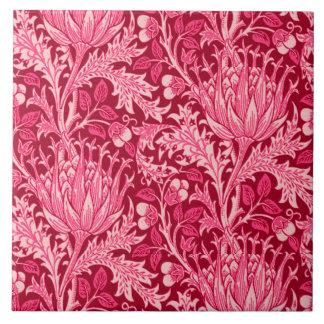 William Morris Damask, Fuchsia Pink Tile