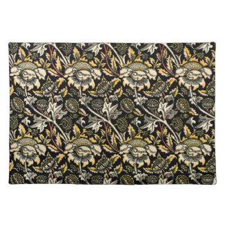 William Morris dark floral arabesque Placemats