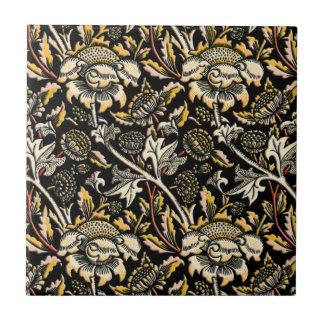 William Morris dark floral arabesque Tiles
