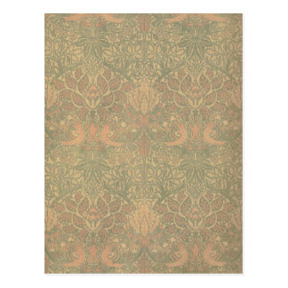 William Morris Dove and Rose Pattern Postcard