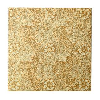 William Morris elegant flowers pattern Small Square Tile