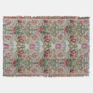 William Morris Embroidery Throw Blanket
