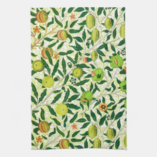 William Morris Exotic Fruit, Lemon Yellow Tea Towel