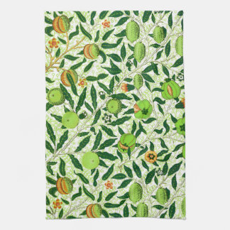 William Morris Exotic Fruit, Lime Green Tea Towel