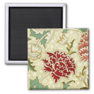 William Morris Fine Red Floral Wallpaper Magnet