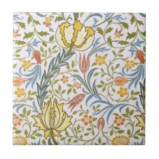 William Morris Flora Vintage Floral Art Nouveau Small Square Tile