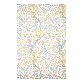 William Morris Flora Vintage Floral Art Nouveau Stationery Paper