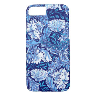 William Morris Floral, Cobalt Blue and White iPhone 8/7 Case
