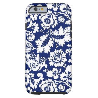 William Morris Floral Damask, Cobalt Blue & White Tough iPhone 6 Case