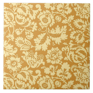 William Morris Floral Damask, Mustard Yellow Tile