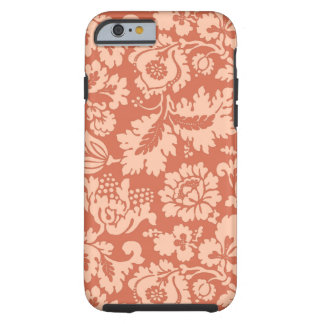William Morris Floral Damask, Peach and Coral Tough iPhone 6 Case