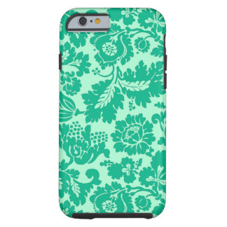 William Morris Floral Damask, Turquoise and Aqua Tough iPhone 6 Case