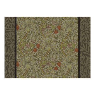 William Morris Floral lily willow art print design