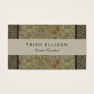 William Morris Floral lily willow art print design Business Card