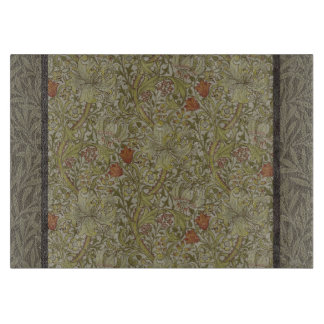 William Morris Floral lily willow art print design Cutting Board