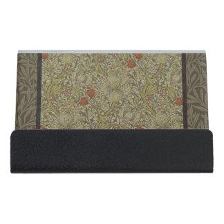 William Morris Floral lily willow art print design Desk Business Card Holder
