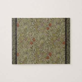 William Morris Floral lily willow art print design Jigsaw Puzzle