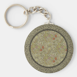 William Morris Floral lily willow art print design Key Ring