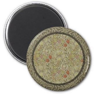 William Morris Floral lily willow art print design Magnet