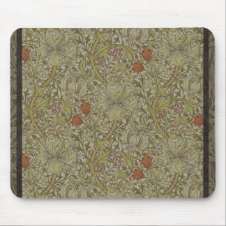 William Morris Floral lily willow art print design Mouse Pad