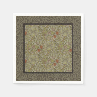 William Morris Floral lily willow art print design Paper Napkin