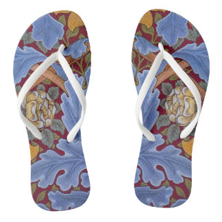 William Morris Floral Wallpaper Pattern Thongs