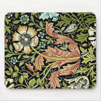 William Morris Flower Design Mousepad