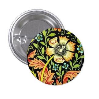 William Morris Flowers 3 Cm Round Badge