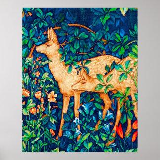 William Morris Forest Deer Tapestry Print