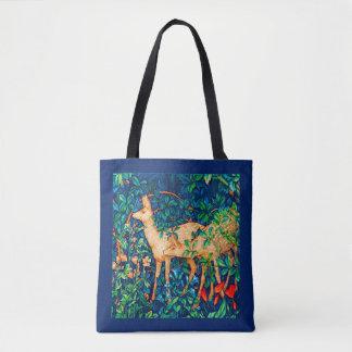 William Morris Forest Deer Tapestry Print Tote Bag