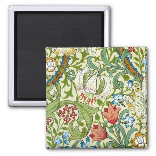 William Morris Garden Lily Wallpaper Refrigerator Magnet