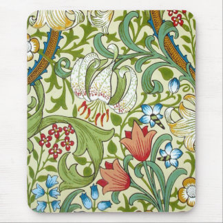 William Morris Garden Lily Wallpaper Mouse Pad