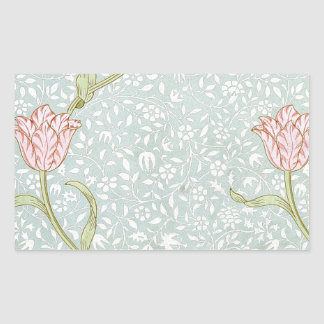 William Morris GardenTulip Rectangular Sticker